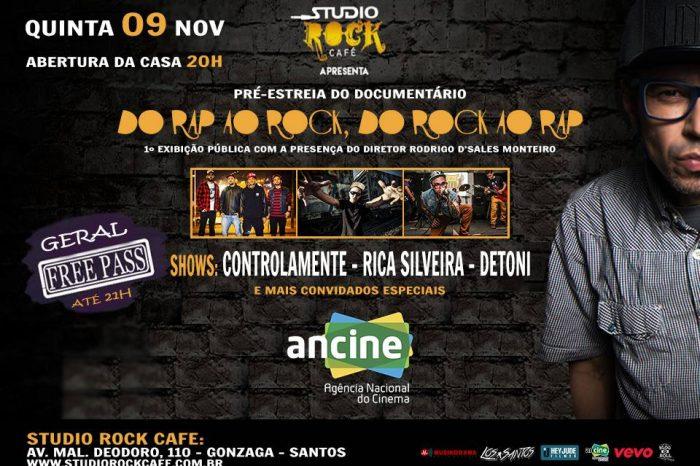 """Pré-Estreia do Documentário do Rapper Rica Silveira """"Do Rap ao Rock, do Rock ao Rap"""" em Santos/SP - (Clique e Compartilhe)"""