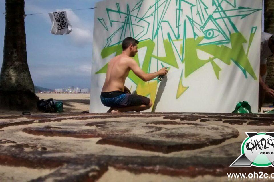 """Fotos do Projeto """"Graffiti Pé na Areia"""" em Santos/SP - (Clique e Compartilhe)"""