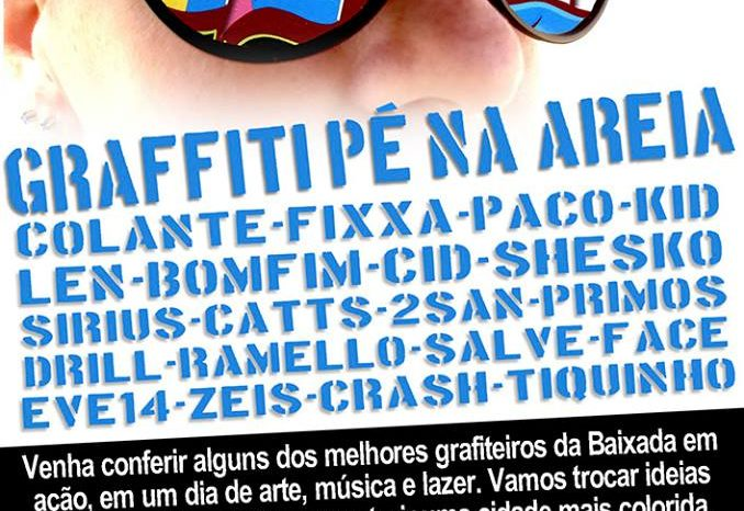"""A OGS Apresenta """"Graffiti Pé na Areia"""" em Santos/SP - (Clique e Compartilhe)"""