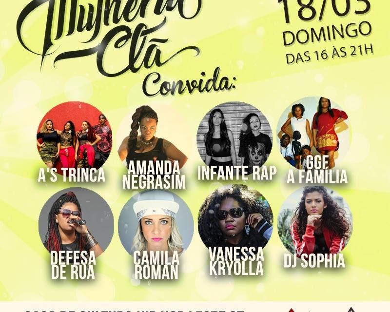 Mulheriu Clã #Convida2 na Casa de Hip Hop Leste da Cidade Tiradentes/SP - (Clique e Compartilhe)