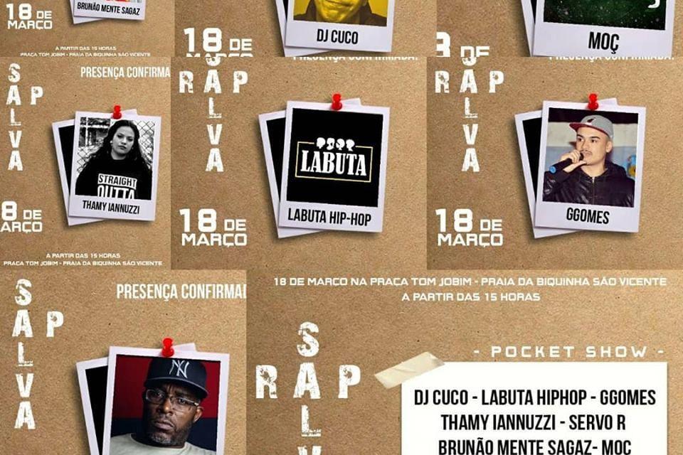 1° Festival RAP SALVA com Premiações e Mic Aberto para Recitar Poesia em São Vicente/SP - (Clique e Compartilhe)