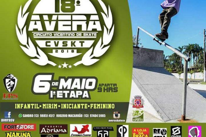 Dia 06/05, Irá rolar as Primeiras Marretadas da 18º Edição do Circuito AVERA de Skate Vicentino 2018 – (Clique e Compartilhe)