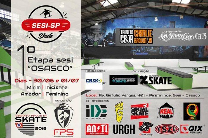 """Vai Começar o Maior e Mais tradicional Circuito Estadual de Skate Street do Brasil """"1ª Etapa Sesi Osasco"""" - (Clique e Compartilhe)"""