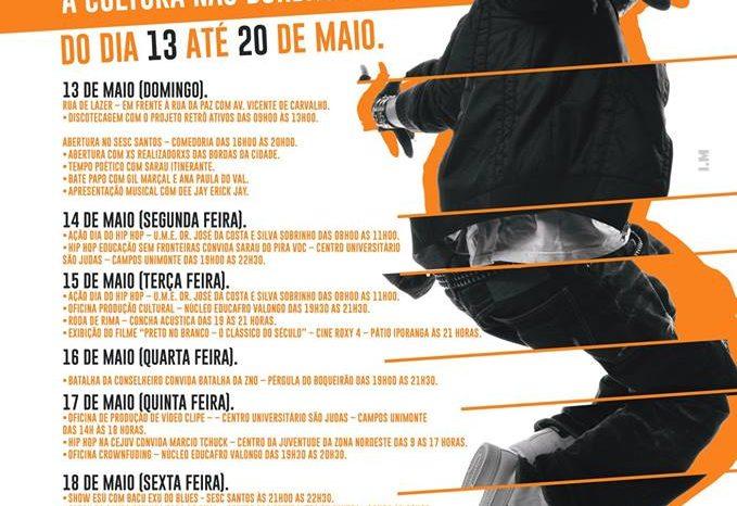 Confira a Programação da Celebração ao Dia Municipal do Hip Hop 2018 em Santos/SP - (Clique e Compartilhe)