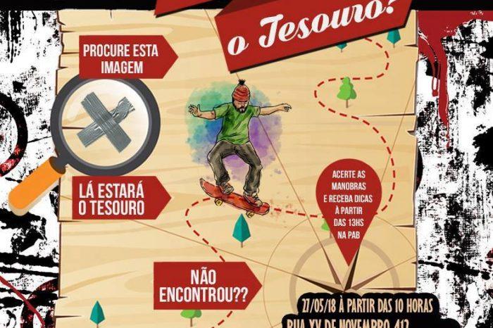 """Campeonatos de Skate Apresenta """"Onde Está o Tesouro + Bazar Cocó"""" em Ferraz de Vasconcelos/SP - (Clique e Compartilhe)"""