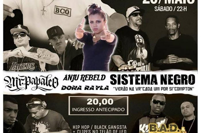 """Evidência Produções Apresenta """"Festa de Aniversário do Rapper MB – Fusão Bélica"""" e Convidados em São Vicente/SP"""