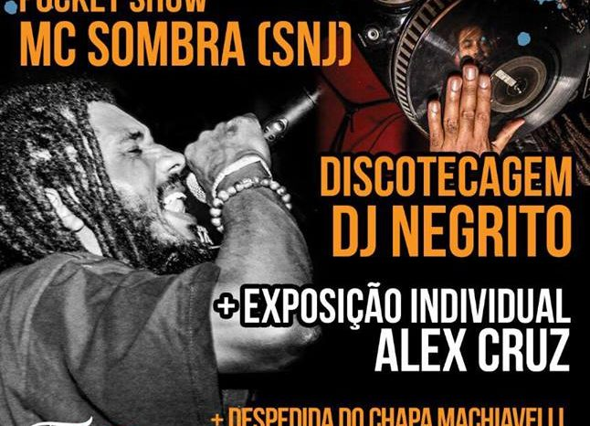 Festa da Pixel Art Books com Pocket Show do Rapper Sombra (SNJ) na Tattoo 4 US - (Clique e Compartilhe)