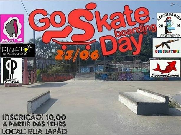 """Campeonato de Sequência de Manobras """"Go Skate Day da Street Japan 2018"""" em São Vicente/SP - (Clique e Compartilhe)"""