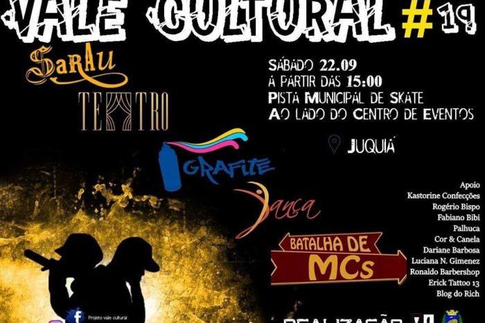 Vale Cultural Apresenta 19ª Edição do Projeto com muito Rap, Graffiti, Skate e muito mais em Juquiá/SP - (Clique e Compartilhe)