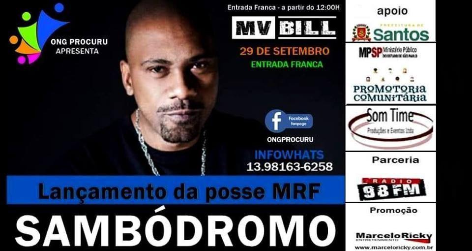 Ong Procuru Apresenta Rapper MV Bill e Convidados na Zona Noroeste em Santos/SP