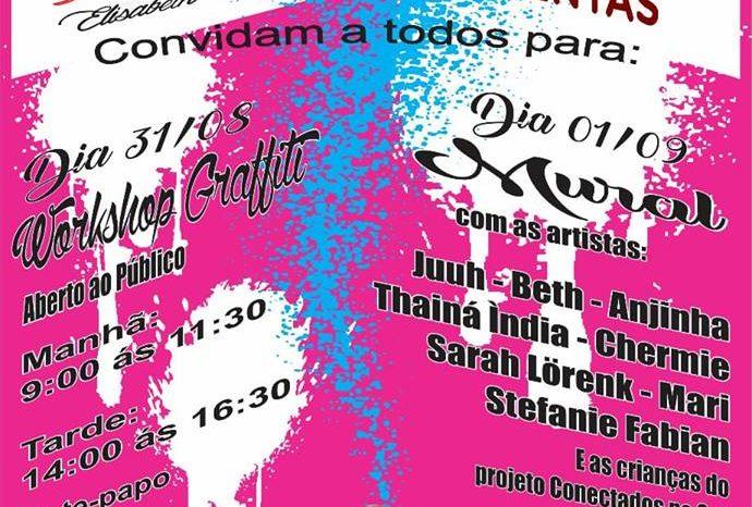Workshop de Graffiti e Mural com Artistas no Jd. Santa Maria em Guarulhos/SP - (Clique e Compartilhe)