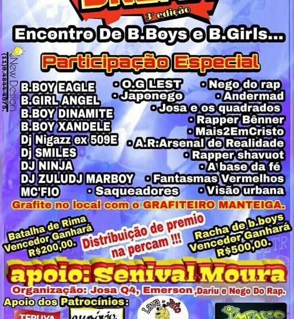 São Mateus Break Apresenta 3° Edição do Encontro de B.Boys e B.Girls - (Clique e Compartilhe)
