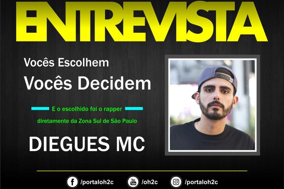 """Confira a Entrevista do Rapper Diegues MC no Projeto """"Vocês Escolhem, Vocês Decidem"""" – (Clique e Compartilhe)"""