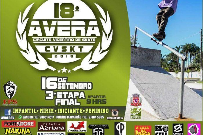 3°e Última Etapa do Circuito AVERA de Skate Vicentino 2018 – (Clique e Compartilhe)