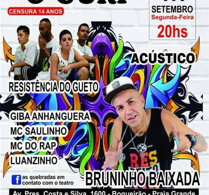 """Musical Rap Teatro """"O Guri"""" As Quebradas em Contato com o Teatro em Praia Grande/SP - (Clique e Compartilhe)"""