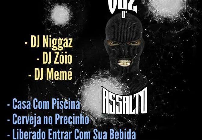 """Festa de Lançamento do Novo Álbum do Voz d' Assalto """"Bonde Mente Blindada"""" em Santos/SP - (Clique e Compartilhe)"""