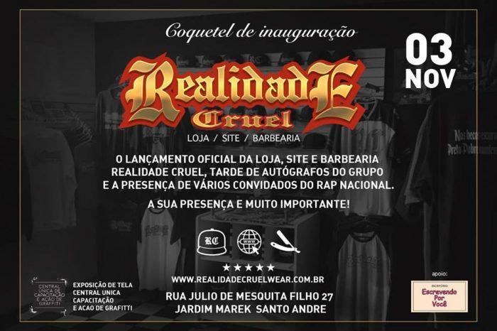 Coquetel de Inauguração da Loja / Barbearia e Site Realidade Cruel em Santo André/SP - (Clique e Compartilhe)