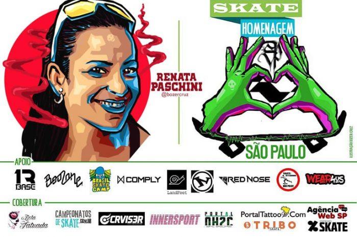 Skate Homenagem São Paulo Apresenta Renata Paschini – (Clique e Compartilhe)