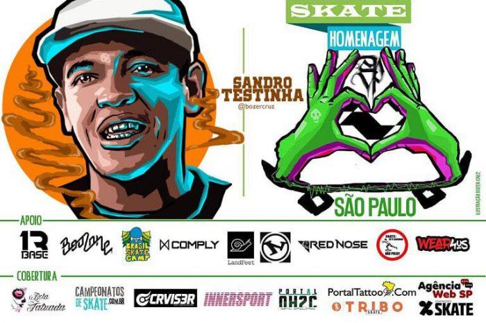 Skate Homenagem São Paulo Apresenta Sandro Testinha – (Clique e Compartilhe)