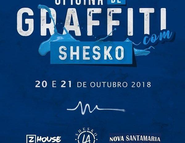 Graffiteiro SHESKO Apresenta OFICINA com Técnicas de GRAFFITI em Santos/SP - (Clique e Compartilhe)