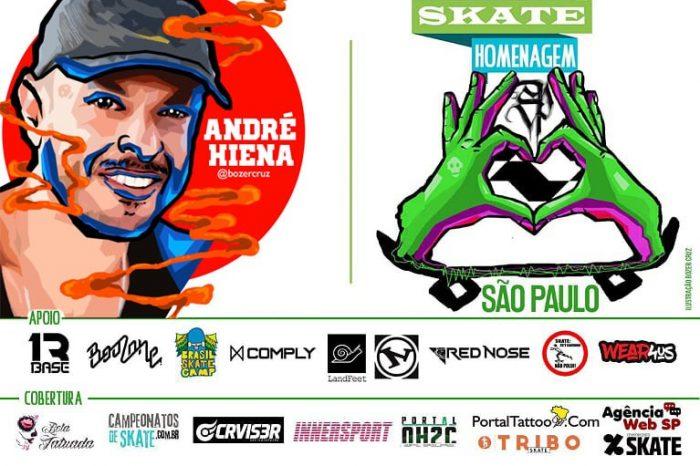 """Skate Homenagem São Paulo Apresenta André Hiena """"Em Memória"""" – (Clique e Compartilhe)"""