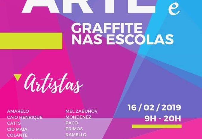 Projeto Arte e Graffiti nas Escolas em Praia Grande/SP - (Clique e Compartilhe)