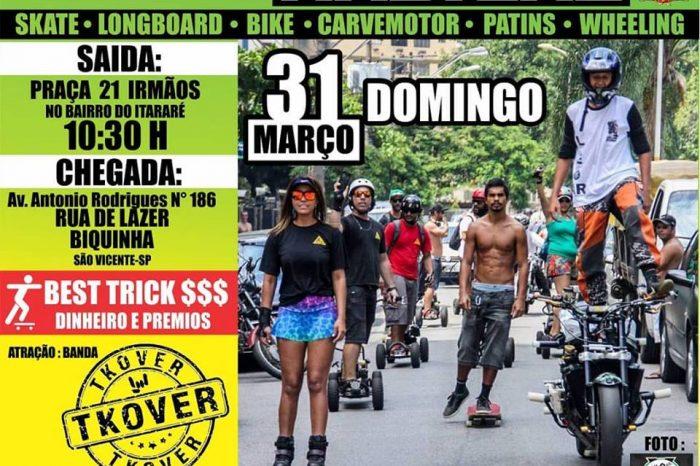 3ª Caminhada Radical dia 31/03 (domingo) em Comemoração ao Dia do Skatista Vicentino – (Clique e Compartilhe)