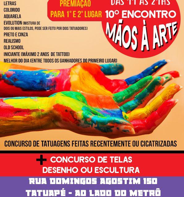 10ª Edição do Evento Mãos à Arte + ArtMix no Espaço Tattoo 4 US em Tatuapé/SP - (Clique e Compartilhe)