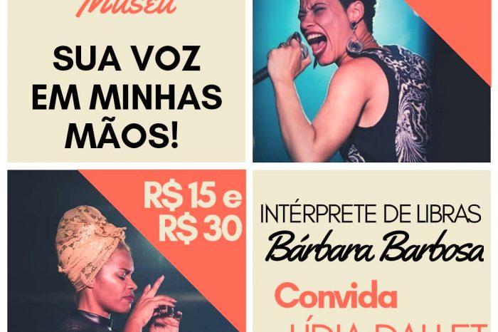 Sua Voz em Minhas Mãos com Lídia Dallet no Teatro Museu dos Correios em Brasília/DF - (Clique e Compartilhe)