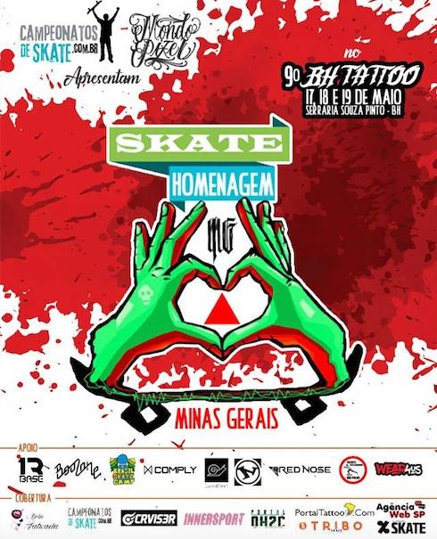 """Campeonatos de Skate e Mondo Pixel Apresentam """"Skate Homenagem Minas Gerais"""" - (Clique e Compartilhe)"""