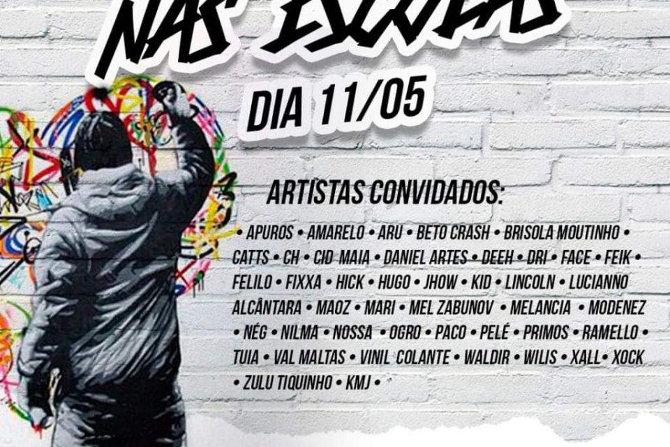 """CATTS ARTE URBANAApresenta """"Projeto Arte e Graffiti nas Escolas"""" em Santos/SP - (Clique e Compartilhe)"""