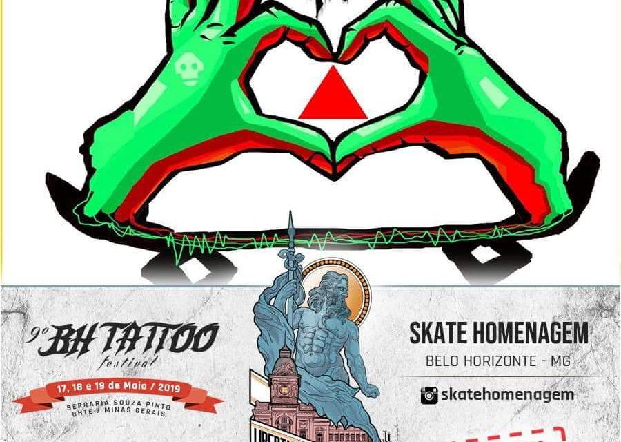 """Começa Hoje o """"Skate Homenagem MG"""" no BH Tattoo Festival - (Clique e Compartilhe)"""