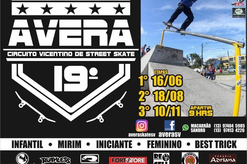 19º Edição do Circuito AVERA de Skate Vicentino 2019 – (Clique e Compartilhe)