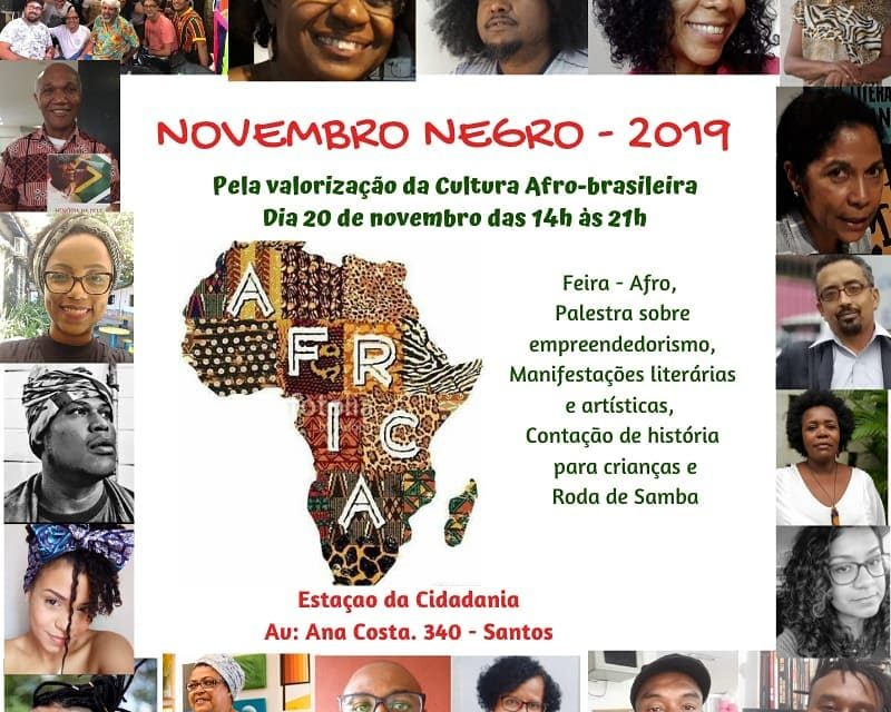 """Pela Valorização da Cultura Afro-Brasileira """"Novembro Negro 2019"""" em Santos/SP - Portal OH2C"""