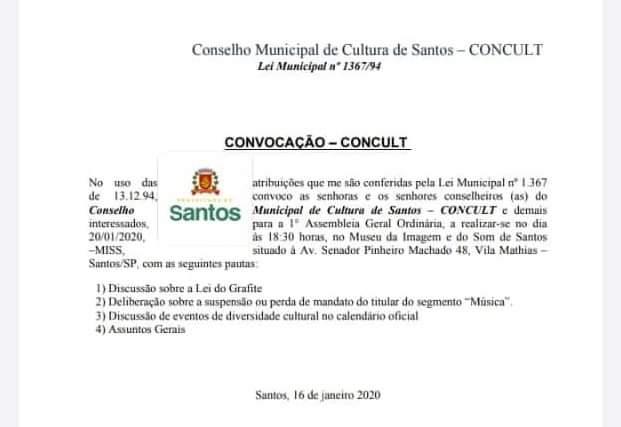 Lei do Graffite em Pauta Amanhã dia 20/01 em Santos/SP - Portal OH2C
