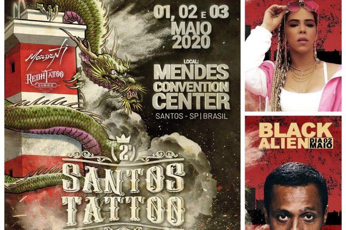 Flora Matos e Black Alien na 2° Edição do Santos Tattoo Festival - Portal OH2C