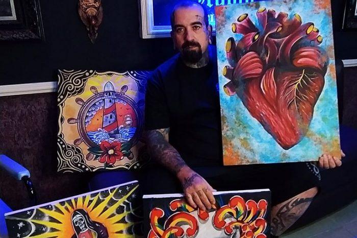 Tatuador Rodrigo Redh Troca Telas Fantásticas por Cestas Básicas - Portal OH2C