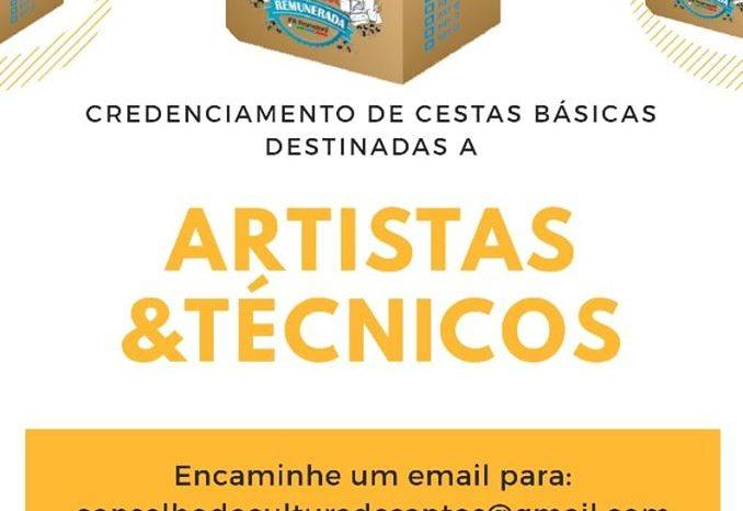 Credenciamento para Cestas Básicas Destinadas aos Artistas e Técnicos de Santos/SP - Portal OH2C