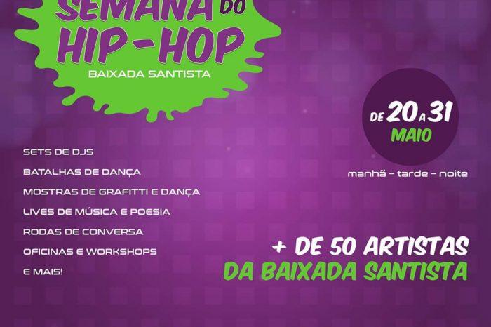 """Evento On-Line """"Cyber Semana do Hip Hop da Baixada Santista"""" de 20 à 31 de Maio/2020 - Portal OH2C"""