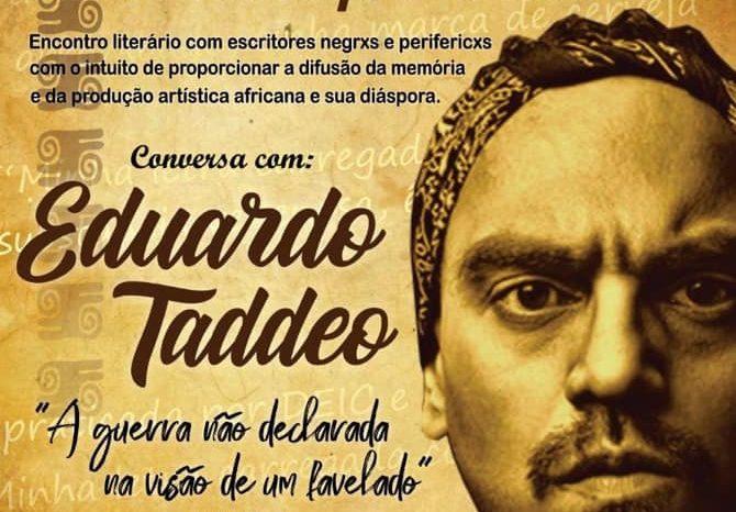 Rapper Eduardo Taddeo em um Super Bate Papo na #QuilomboLive - Portal OH2C