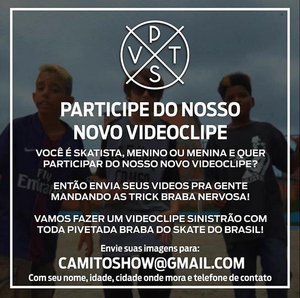 Quer Participar do Novo VideoClipe do P.V.T.S? - Portal OH2C