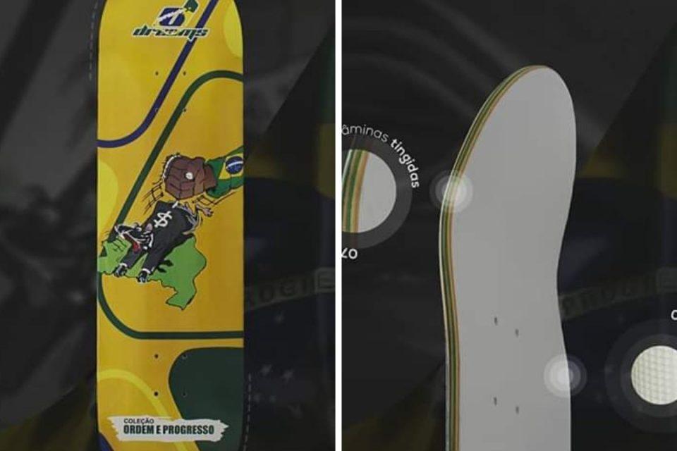 """2° Modelo da Coleção """"Ordem e Progresso"""" da Dreams Skateboards - Portal OH2C"""