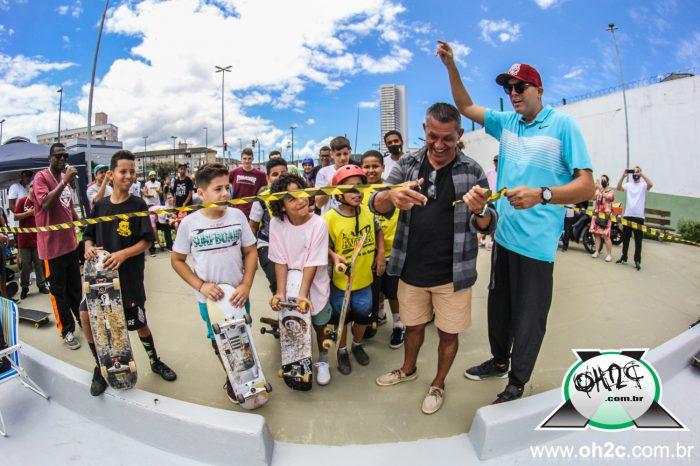 Skatistas da Cidade de São Vicente/SP Ganham Mais uma Pista - Portal OH2C
