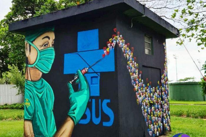 """Grafiteiro Carlos """"Catts"""" Homenageia o SUS e os Profissionais de Saúde - Portal OH2C"""