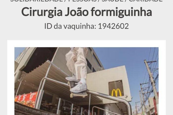 Vakinha - Cirurgia Urgente para o Skatista João Victor Formiguinha - Portal OH2C